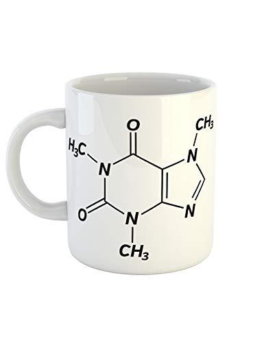 clothinx Kaffeetasse mit Aufdruck Koffein Chemische Formel