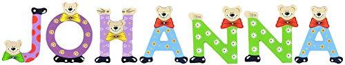 Playshoes Kinder Holz-Buchstaben Namen-Set JOHANNA