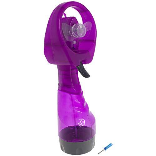 Smartfox tragbarer Sprühventilator Handventilator Minifan Ventilator mit Sprühflasche in lila (Kleine Lila Sprühflasche)