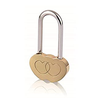 Double Heart Shaped Lock Love Locks Engraved Padlock Valentines Anniversary Day Gifts Blessing No Key