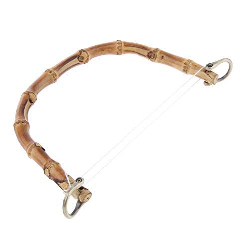 IPOTCH DIY Bambus Taschengriff Ersatz Taschengriffe mit Metall Schnalle für Taschenherstellung - Bronze (Holz-finish Reparieren)