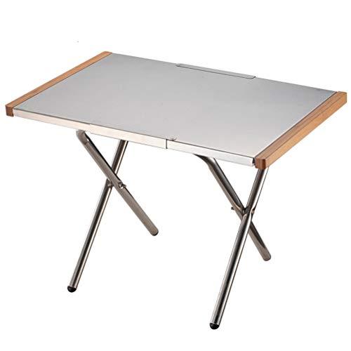 Tragbare Klein Stahl Tabelle erweitern Lagerung Einfache Außen Herstellung des Tees Camping-Picknick-Grill