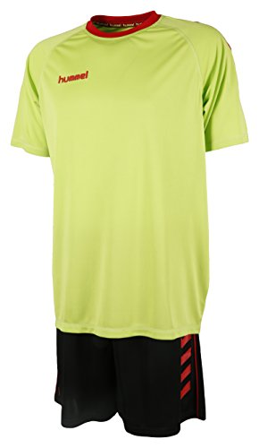 Hummel Unisex Trikot-Set Essential, Green Glow/Black, M, 06-095-6727