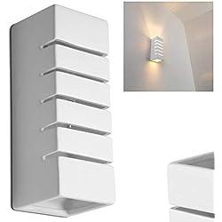 Lámpara de pared Khartum - 1x E14 60W max. - se puede pintar