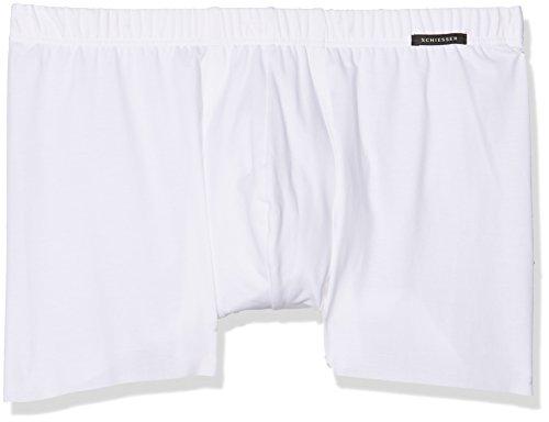 Schiesser Herren Boxershorts Shorts, Weiß (Weiss 100), Large (Herstellergröße: 006)
