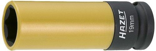 Hazet 903SLG-19 Douille à chocs/carré creux 12,5 mm/profil traction à 6 pans extérieurs Taille 19 longueur 85 mm