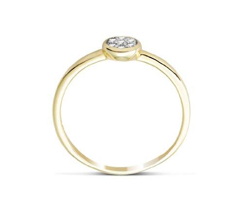 Miore Damen-Ring mit Brillanten 9 Karat 375 Gelbgold MG9140R - 3