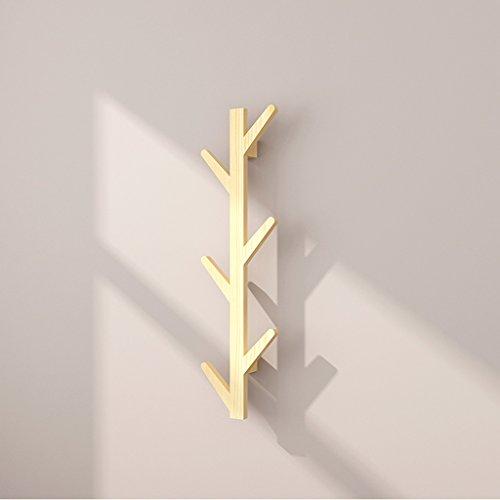Wall Hanging Coat Rack (Wände Solid Wooden Coat Racks Walls Wallpapers Einfache Hanger Schlafzimmer Wohnzimmer Walls Hanging Coat Racks (Farbe : Holzfarbe))