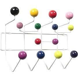 Design s'inspirant de Charles Eames Vissanta Patère murale avec boules de couleur