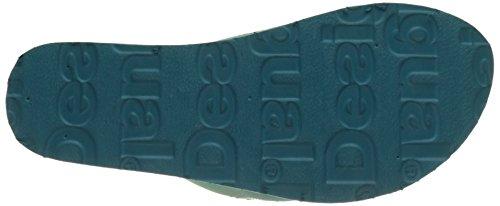 Desigual Lola Blue Aquarella, Tongs Femme Turquoise (Turquoise 5013)