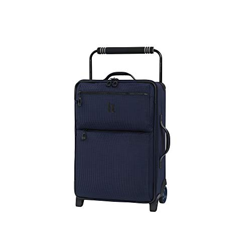 it luggage World's Lightest Urbane 2 Wheel Super Lightweight Suitcase Small Koffer, 55 cm, 30 liters, Blau (Navy/Blue Two Tone)