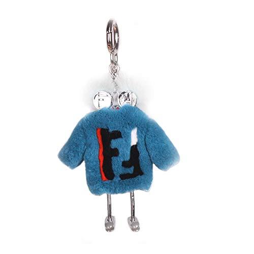 VAWAA Pelz Roboter Nerz Haar Monster Rex Kaninchen Kleid Süße Pelz Ball Tasche Schlüsselanhänger Auto Anhänger Ornamente