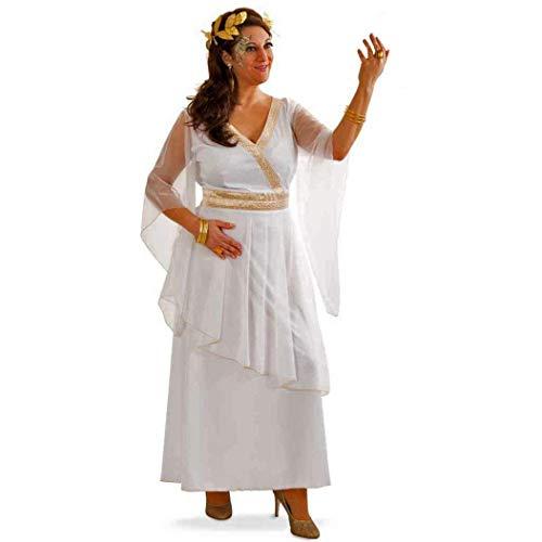 KarnevalsTeufel Kostüm Set Damen Griechinnen Kleid Lorbeerkranz weißes Kleid Antike - Athena Kostüm Haar