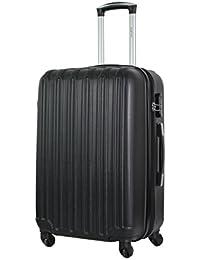SUITLINE - Bagage à main, Valise cabine, Trolley, 4 roues, ABS très léger, TSA, 55 cm, 34 litres, Dorado