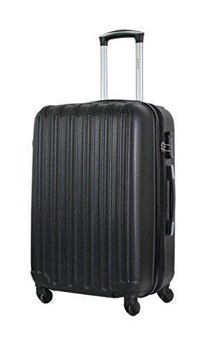 Valise Taille Moyenne 65cm - ALISTAIR Sécure - ABS Ultra légère et résistante - 4 Roues - Couleur spéciales - Marque française - Noir