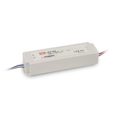 Isolicht LED Trafo MW LPV 24V/DC, 0-100W, IP67