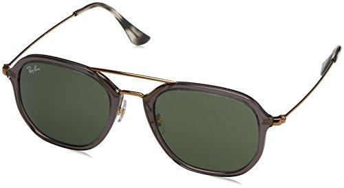 Ray-Ban RAYBAN Unisex-Erwachsene Sonnenbrille RB4273 Grau (Shiny Transparent Grey/Green) 52