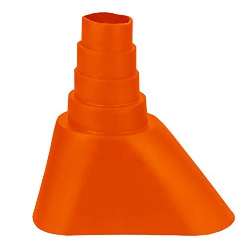 HB-DIGITAL Universal Gummimanschette Orange ✨ für Rohren mit 32-60 mm Durchmesser ﹢ Mastmanschette Mastabdichtung Manschette Abdichtung