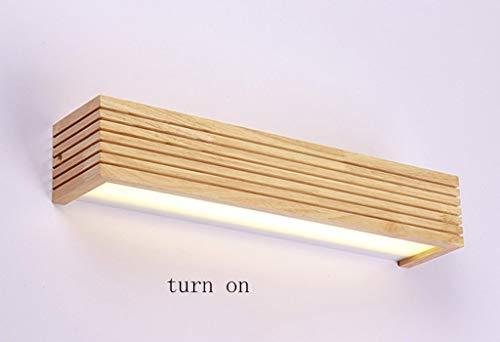LZY Mode Kreativität Holz Badewanne Led Taschenlampe Spiegel Spiegel von Bad/WC Wandleuchte Licht von Bad Spiegel Wandleuchte,45cm,