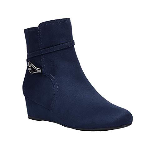 IMPO Frauen Pumps Rund Fashion Stiefel Blau Groesse 8 US /39 EU -