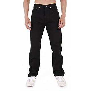 AZTEC Jeans Herren Azteken Heavy Duty Basic Gerades Bein Regular Fit Jeans Gr. 36W x 36L, schwarz