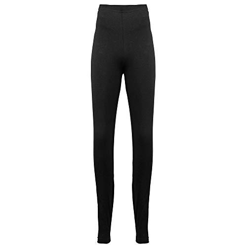 Authentische American Apparel (American Apparel Damen Legging Baumwolle Spandex Jersey (8328) blanko AA013 Gr. L, Schwarz)