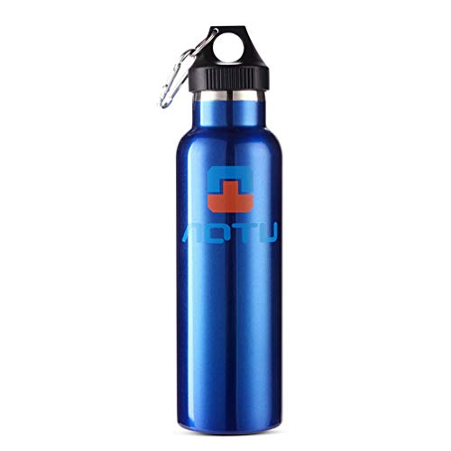 Vakuum-Isolierbecher, 600 Ml, mit Doppeltem Bügelverschluss, Edelstahl-Trinkflasche, für Outdoor-Sportarten - Blau