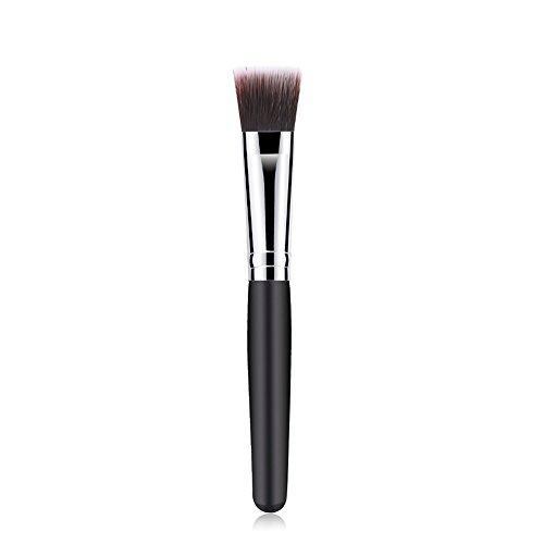 Wicemoon Synthétique Maquillage Brosse Poignée en Bois Tube en Aluminium Cosmétique Brush pour Produits de Toute Consistance