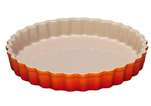 Le Creuset Steinzeug Tarte-Form, 24 cm, ofenrot Pie Plate