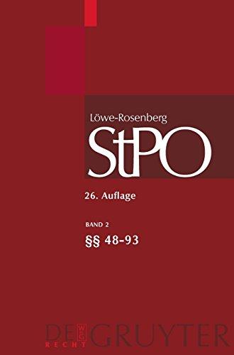 lowe-rosenberg-die-strafprozessordnung-und-das-gerichtsverfassungsgesetz-band-2-48-93-groakommentare
