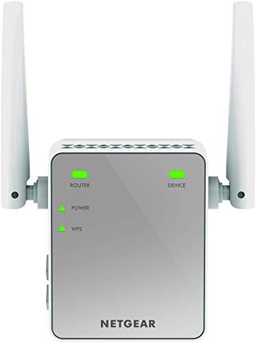 Netgear EX2700-100PES N300 WLAN Repeater WiFi-Signal-Verstärker und Booster (Abdeckung von 1 bis 2 Räumen und 10 Geräten, Geschwindigkeit bis zu 300 MBit/s, kompaktes Netzstecker-Design) -