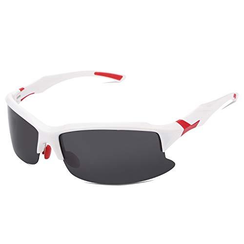 jfhrfged Sonnenbrillen professionelle polarisierte Anti-UV-Naht Farbe Reitbrille Casual Sport Outdoor-Brille können Nasenpads Umweltschutz Material Angeln Sonnenbrille 5 Farben einstellen (Hot Pink)