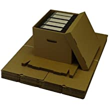 20 LARGE ARCHIVE STORAGE CARDBOARD BOXES WITH LID