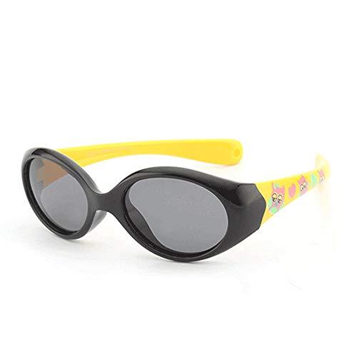 Wang-RX Kleine Kindersonnenbrillen polarisiert für 1 2 3 Jahre alte Kinder Brillen für Baby TR90 Flexible Sicherheit Shades Boy Girl