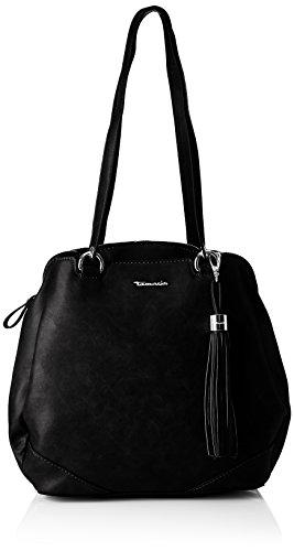 Tamaris Damen Melanie Backpack Rucksackhandtasche, Schwarz (Black), 12 x 30.5 x 27 cm