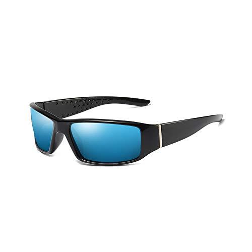 FGRYGF-eyewear2 Sport-Sonnenbrillen, Vintage Sonnenbrillen, Brand Design Men Polarisiert HD Sunglasses Male Driving Shades Sun Glasses For Outdoor Fishing Sports Goggles PA1145 C5 Blue Spiegel