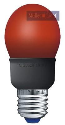 Energiesparlampe 5W rot E27 Tropfenlampe = Licht wie 25W Glühbirne von Mller-licht - Lampenhans.de