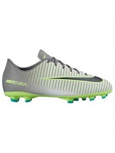 Nike Jr Mercurial Vapor Xi Ag, Chaussures de Football Mixte Adulte Plateado (Pure Platinum / Black-Ghost Green)