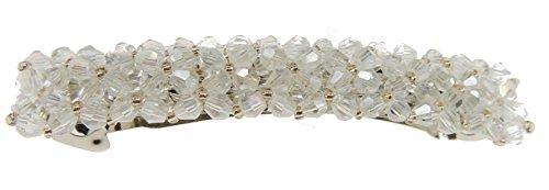 Señoras traje de 9cm rectangular pasador para de cristal brillantes para novia color marfil