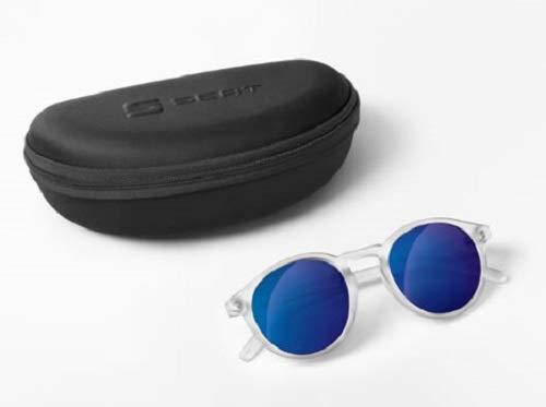Seat Original Sonnenbrille rund transparent grau Spiegelglas