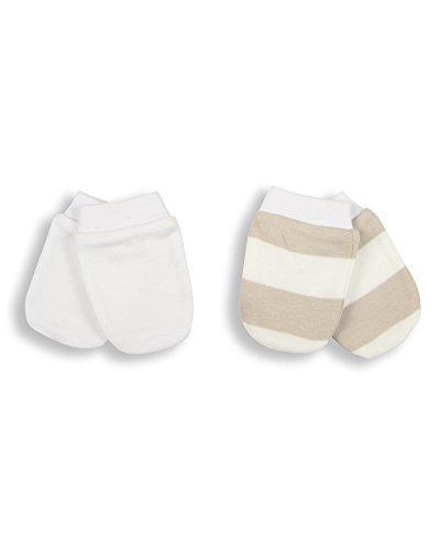Essential One - Baby Kratzhandschuhe für Neugeborene/Kratzfäustlinge/Kratzfäustel, Neugeborenenhandschuhe (2 Paar) ESS5
