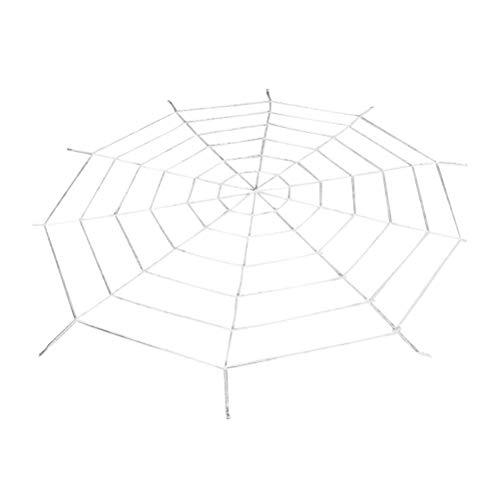 16Jessie Halloween Spinnennetz Gruseliges Dekor Super Stretch Cobweb Set Stellen Sie rundes gefälschtes Spinnennetz EIN Riesiges Stretch-Spinnennetz Hofparty
