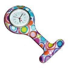 Boolavard® TM Orologio da infermiere in silicone con spilla – orologio tascabile modello 2
