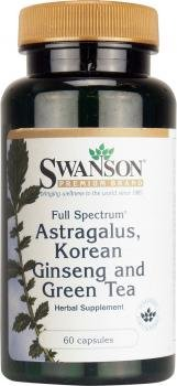 Swanson Full Spectrum Astragalus, Korean Ginseng & Green Tea, 60 Capsules by Swanson Health Products