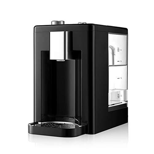Wasserspender Kleiner flaschenloser heiße und kalte Arbeitsplatten mit Filter, Mini-Tischkühlerspender 3.2L, heißes und kaltes Wasser, Temperatur einstellbar (Farbe : Schwarz)