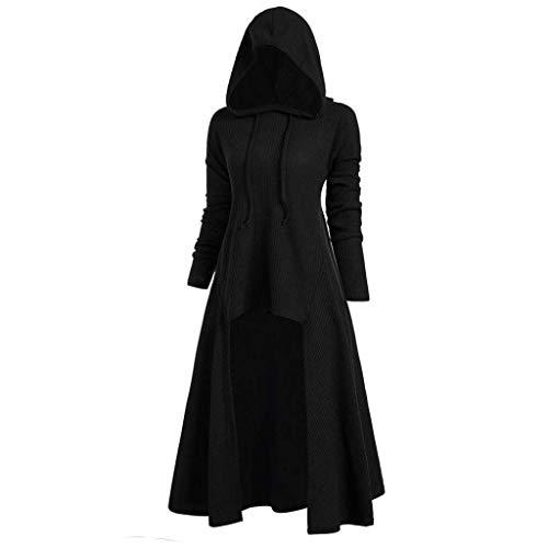 Toctax Vestido con Capucha para Mujer Vestidos de Manga Larga de...