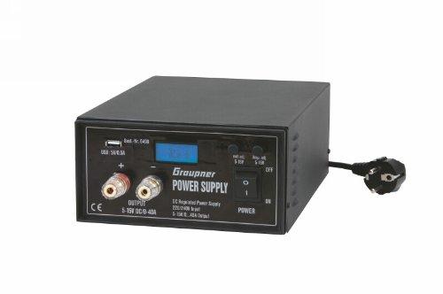 Preisvergleich Produktbild Graupner 6490 - Zubehör - Schaltnetzteil, regelbar, 5-15 V, 0-40 A