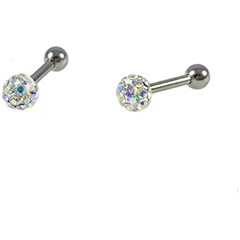 Pendientes Pequeños de las Mujeres, Acero inoxidable con Cristales swarowski Circones