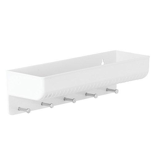 Interdesign 38031EU Linus Wandmontierte Postablage und Schlüsselleiste, Küche, Eingang, Flur, weiß