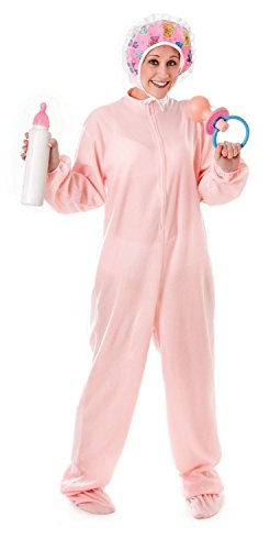 Adult Baby Body - Adult Kostüm - Pink - Size - 10 bis (Outfit Adult Baby)